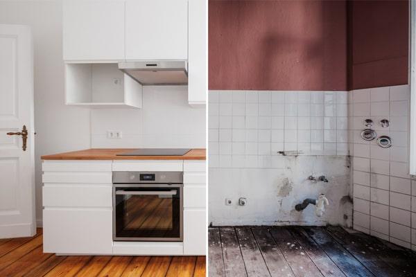 Rénovation cuisine avant après