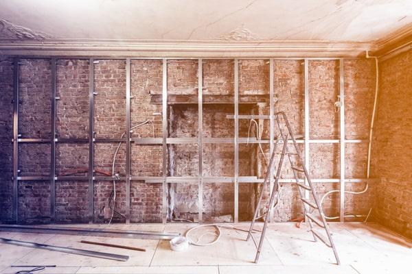 Rénovation mur intérieur