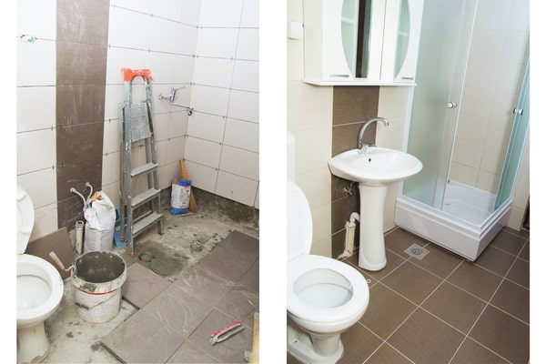 Rénovation salle de bain avant après 4