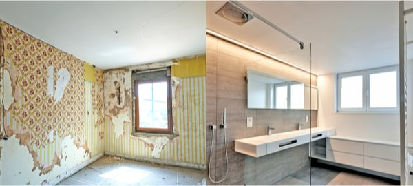 Rénovation salle de bain avant après 1