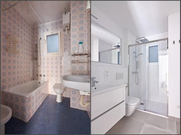 Rénovation salle de bain avant après 2